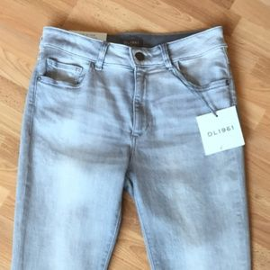 DL 1961 grey denim Florence Cut